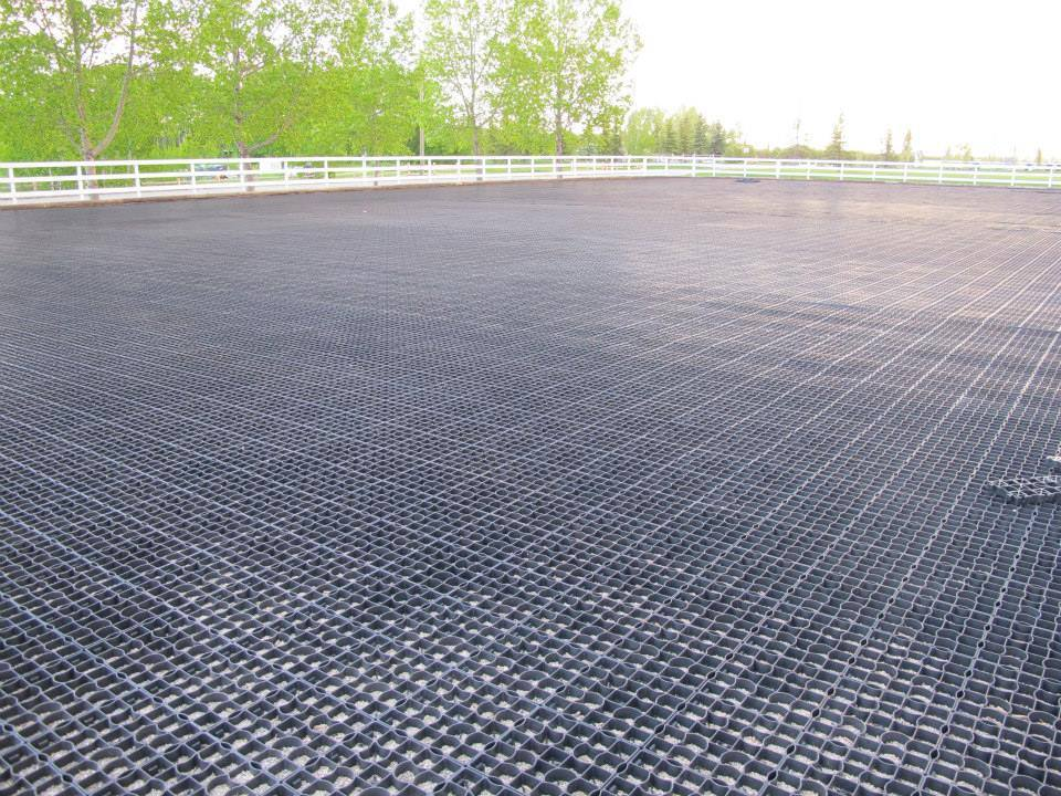 Ecoraster paving in the fall lid permeable paving canada for Paving planner